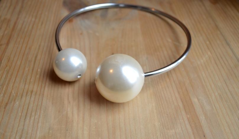 Collier perles XXL