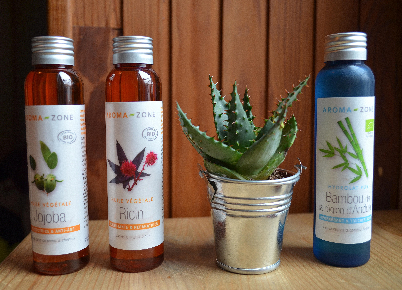 Première commande Aromazone huiles végétales et hydrolat