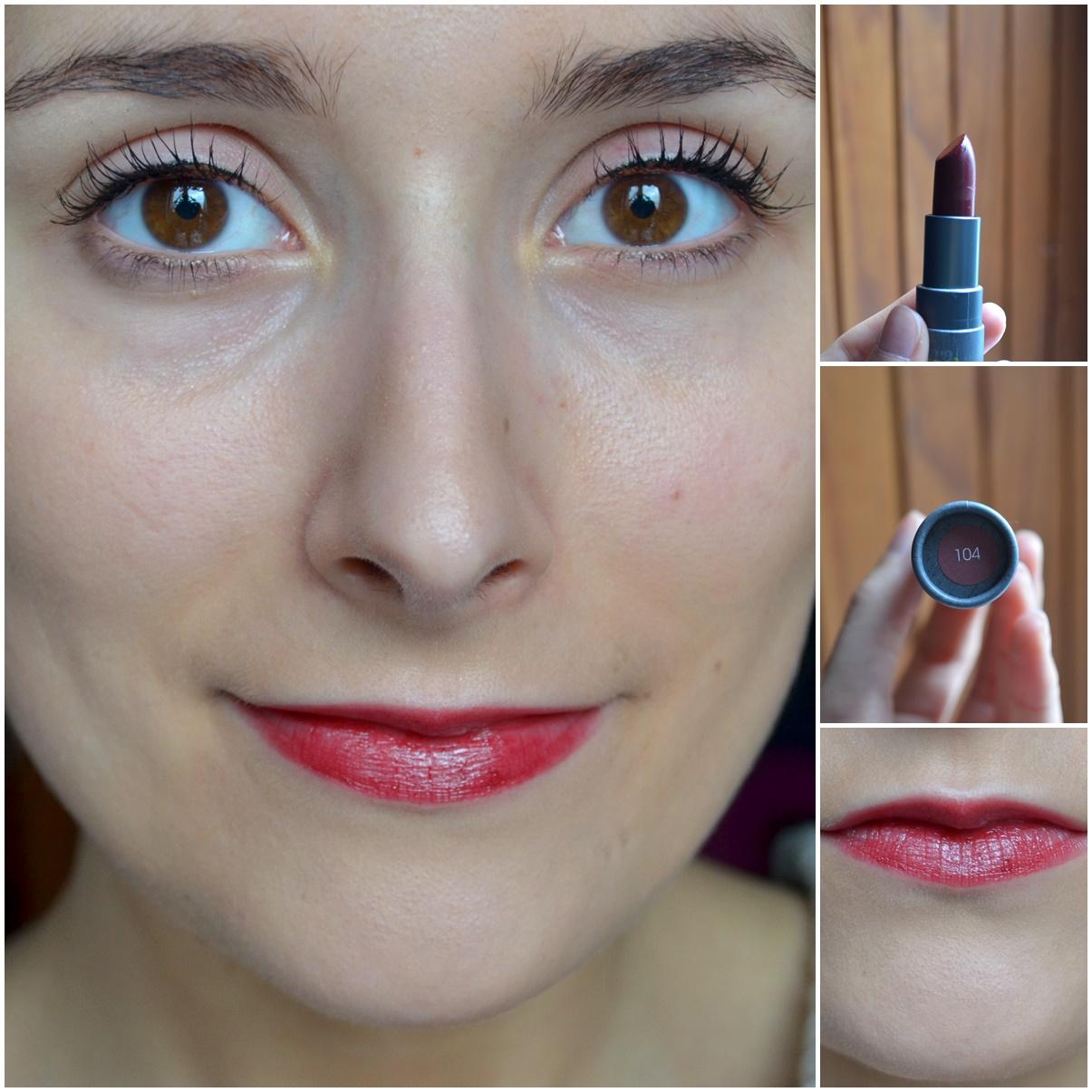maquillage boho cosmetics rouge à lèvres teinte 104